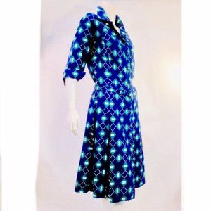 Vtg 70's  Lanvin  Geometric Dress